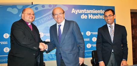 El alcalde de Huelva y el obispo de la Iglesia de Comunión Anglicana