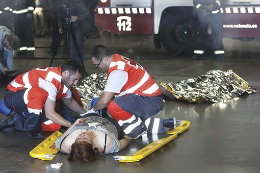 Funermostra 2013_1-Simulacro de catástrofe promovido por Grupo Mémora