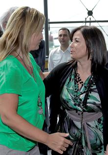 Lourdes Bernal y Beatriz Colom en Funerrmostra 2011