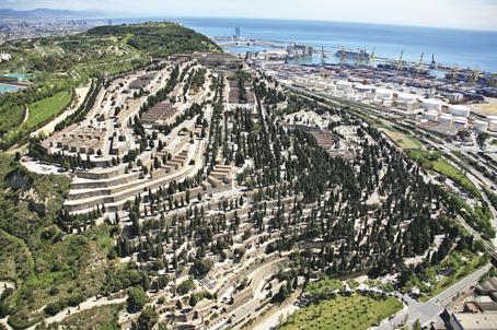 Vista aérea del Cementerio de Montjuic