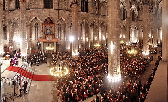 XV Memorial Religioso organizado por SFB-Mémora en la Basílica de Santa María de Mar