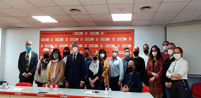 Representantes de Panasef y CCOO que han participado en el desarrollo del convenio colectivo