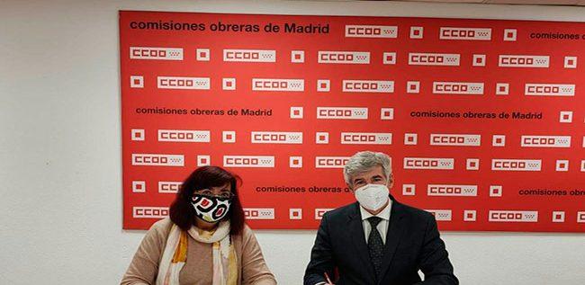 Juan José López Vivas (vicepresidente de Panasef) y Rosa Cuadrado (secretaria general de CCOO Sanidad de Madrid)
